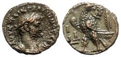 Ancient Coins - Gallienus (253-268). Egypt, Alexandria. BI Tetradrachm - year 14 - R/ Eagle