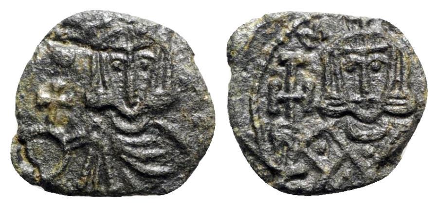 Ancient Coins - Leo V and Constantine (813-820). Æ 40 Nummi - Syracuse