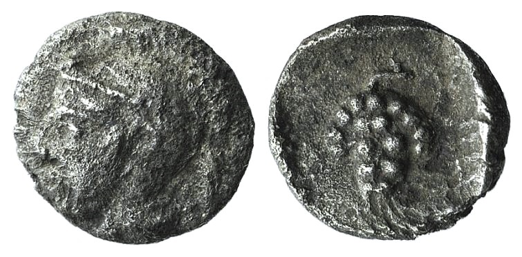 Ancient Coins - Cilicia, Soloi, c. 410-375 BC. AR Hemiobol or Tetartemorion