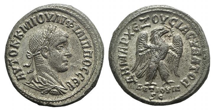 Ancient Coins - Philip I (244-249). Seleucis and Pieria, Antioch. BI Tetradrachm, AD 249.