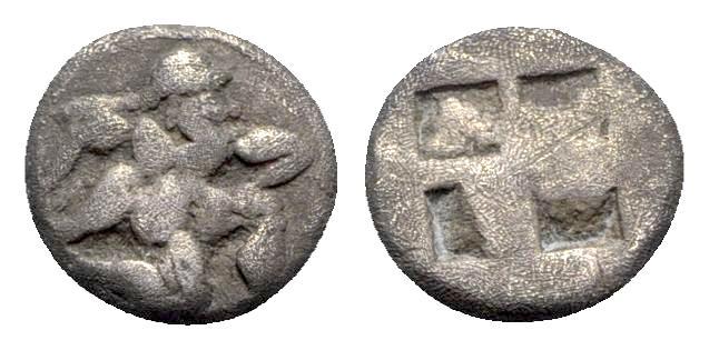 Ancient Coins - Island of Thrace, Thasos, c. 500-480 BC. AR Diobol