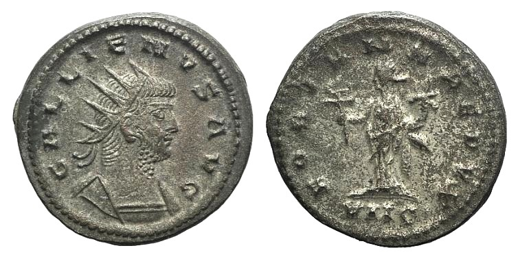 Ancient Coins - Gallienus (253-268). Antoninianus. Antioch. R/ FORTUNA