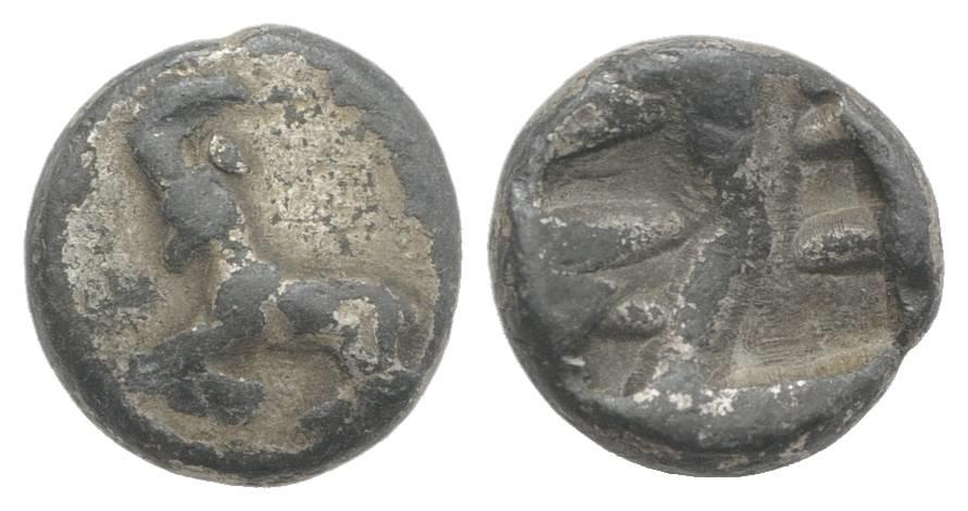 Ancient Coins - IONIA, Phokaia. c. 5th century BC. AR Diobol VERY RARE