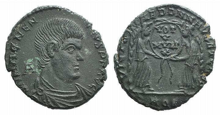 Ancient Coins - Magnentius (350-353). AE Centenionalis. Aquileia, 350.