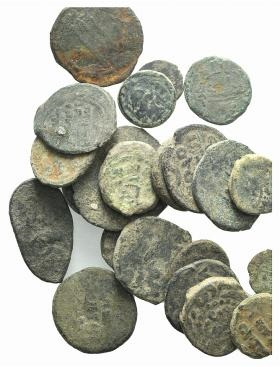 World Coins - Lot of 22 Æ Islamic coins, to be catalog. LOT SOLD AS IS, NO RETURNS
