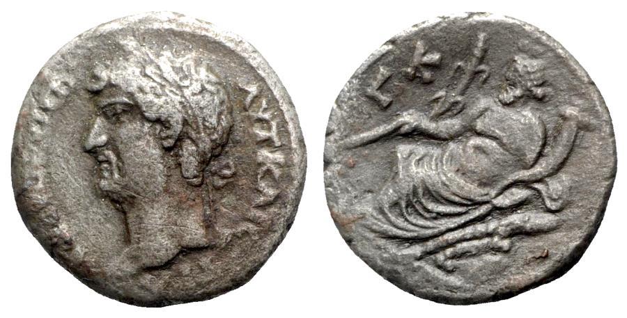 Ancient Coins - Hadrian (117-138). Egypt, Alexandria. BI Tetradrachm - year 20 - R/ Nilus