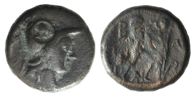 Ancient Coins - Kings of Macedon. Antigonos II Gonatas (277/6-239 BC). AE 16mm
