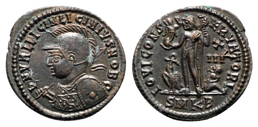 Ancient Coins - Licinius II (Caesar, 317-324). Æ Follis - Cyzicus