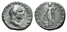 Ancient Coins - Vespasian (69-79 AD) AR Denarius. Rome, AD 70. R/ FORTUNA