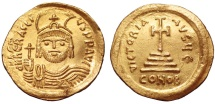 Ancient Coins - Heraclius 610-613. GOLD Solidus. Constantinople. GOOD EXTREMELY FINE