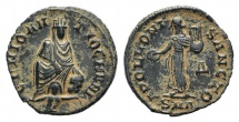 Ancient Coins - temp. Maximinus II. AD 310-313. Æ 15mm. 'Persecution' issue. Antioch mint, 4th officina. Near EF