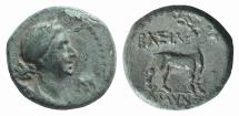Ancient Coins - KINGS of GALATIA. Amyntas. 36-25 BC. Æ 17mm Artemis with the Features of Kleopatra