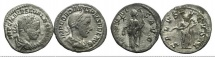 Ancient Coins - Lot of 2 Roman Imperial AR Denarii, including Severus Alexander and Gordian III, to be catalog.