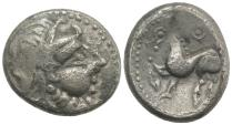Ancient Coins - Celts. Danubian District / Eastern Celts (2nd Century BC), AR Tetradrachm, Imitation of Philip III.