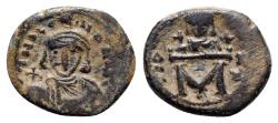 Ancient Coins - Leo III with Constantine V (717-741). Æ 40 Nummi - Constantinople, year 20