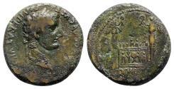 Ancient Coins - Tiberius (Caesar, AD 4-14). Æ As - Lugdunum - R/ Altar of Lugdunum