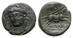 Ancient Coins - Thessaly, Pherai, early-mid 3rd century BC. Æ Chalkous