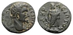 Ancient Coins - Septimius Severus (193-211). Lydia, Acrasus. Æ - R/ Asclepius