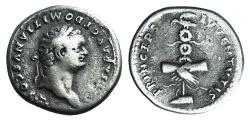 Ancient Coins - DOMITIAN, as Caesar. 79 AD. AR Denarius R/ PRINCIPS IVVENTVTIS