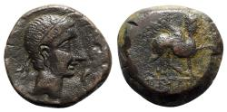 Ancient Coins - Spain, Castulo, late 2nd century BC. Æ As