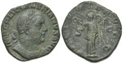 Ancient Coins - Valerian I (253-260). Ӕ Sestertius. Rome, 253-4. R/ VICTORY