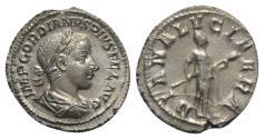 Ancient Coins - Gordian III (238-244). AR Denarius - Rome - R/ Diana Lucifera
