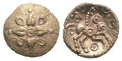 Ancient Coins - Celtic, Trinovantes & Catuvellauni. Addedomaros, c. 40-30 BC. GOLD 1/4 Stater