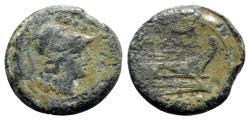 Ancient Coins - Roman Republic - Sow series, c. 206-195. Æ Triens - VERY RARE
