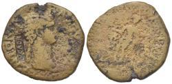 Ancient Coins - Antonia Minor (Augusta, AD 37 and 41). Æ Dupondius. Rome, AD 41-2. NCAPR within rectangular incuse.