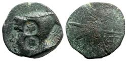 Ancient Coins - Pontos, Uncertain, c. 130-100 BC. Æ - Male head / Star