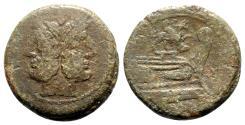 Ancient Coins - Griffin series, Rome, c. 169-158 BC. Æ As - SCARCE