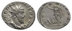 Ancient Coins - Postumus (260-269). AR Antoninianus. Treveri, 260-261.  R/ VICTORY