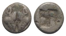 Ancient Coins - LESBOS, Unattributed early mint. Circa 550-480 BC. BI 1/12 Stater