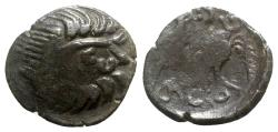 Ancient Coins - Eastern Celts, imitating Philip II of Macedon, 2nd-1st century BC. Æ Tetradrachm - Zeus / Horse