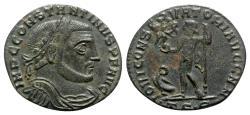 Ancient Coins - Constantine I (307-337). Æ Follis (23mm, 3.21g, 12h). Thessalonica, 312-3.