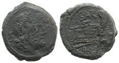 Ancient Coins - Rome Republic Atilius Saranus, Rome, 155 BC. Æ Semis