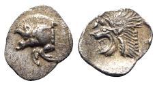 Ancient Coins - Mysia, Kyzikos, c. 450-400 BC. AR Hemiobol