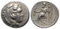 Ancient Coins - Kings of Macedon, Alexander III 'the Great' (336-323 BC). AR Drachm. Sardes, c. 334/25-323