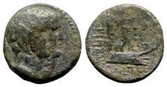 Ancient Coins - Phoenicia, Tripolis. Pseudo-autonomous issue, time of Augustus (27 BC-AD 14). Æ