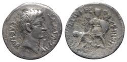 Ancient Coins - Augustus (27 BC-14 AD). AR Denarius. L. Aquillius Florus, moneyer, 19/8 BC. VERY RARE