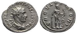 Ancient Coins - Aemilian (AD 253). AR Antoninianus. Rome.  R/ Hercules NICE and RARE