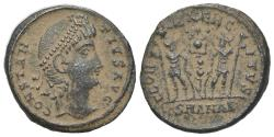 Ancient Coins - Constantius II (337-361). Æ 15.5mm. Antioch, 337-347.