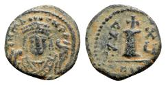 Ancient Coins - Maurice Tiberius (582-602). Æ 10 Nummi - Antioch, year 15