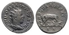 Ancient Coins - Philip I (244-249). AR Antoninianus - R/ She-wolf with twins