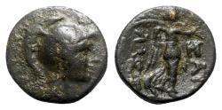 Ancient Coins - Pisidia, Sagalassos, c. 1st century BC. Æ - Athena / Nike - RARE