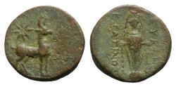 Ancient Coins - Ionia, Magnesia ad Maeandrum, 2nd-1st century BC. Æ - Eukles and Kratinos, magistrates