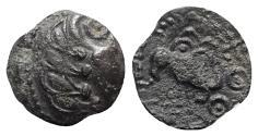 Ancient Coins - Celtic, Northwest Gaul. Senones, c. 1st century BC. Æ