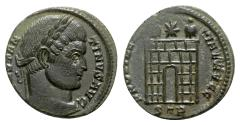 Ancient Coins - Constantine I (307/310-337). Æ Follis - Treveri - R/ Camp gate