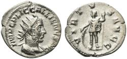 Ancient Coins - Gallienus (253-268). AR Antoninianus. Rome, 253-4. R/ Virtus