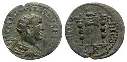 Ancient Coins - Philip I (244-249). Pisidia, Antioch. Æ - R/ Aquila and signa